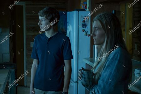 Stock Image of Skylar Gaertner as Jonah Byrde and Sofia Hublitz as Charlotte Byrde