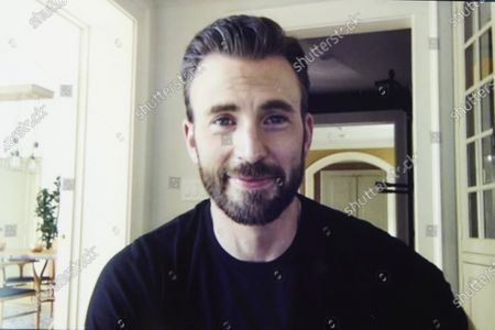 """Chris Evans, co-founder of the civic engagement video-based app """"A Starting Point"""" with Mark Kassen, is photographed during a remote portrait session with photographer in Los Angeles and subject in Boston, Mass"""