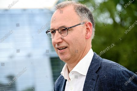 Stock Photo of Werner Baumann, CEO of German pharmaceutical company Bayer AG, is seen at the company's headquarters in Leverkusen, Germany, 13 August 2020. While management is making progress in resolving the multi-billion dollar litigation over alleged cancer risks of glyphosate-containing weed killers, the Corona pandemic is now causing a jolt in day-to-day operations. At the same time, the agrochemical and pharmaceutical company is pressing ahead rapidly with the integration of the seed and crop protection group Monsanto, which was acquired in 2018, and is also generating new growth impetus in the pharmaceuticals business.