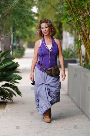 Editorial picture of Claudia Wells out and about, Los Angeles, USA - 13 Aug 2020
