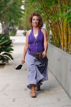 Editorial image of Claudia Wells out and about, Los Angeles, USA - 13 Aug 2020