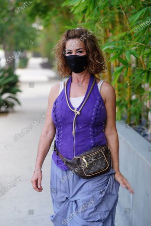 Editorial photo of Claudia Wells out and about, Los Angeles, USA - 13 Aug 2020
