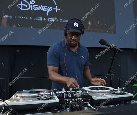 Stock Picture of DJ MOS at the Disney Drive-In series FYC event for the Disney + show 'The Mandalorian' at the Rose Bowl on August 13, 2020 in Pasadena, California.