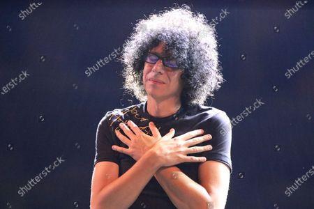 """Stock Photo of Giovanni Allevi in concert in Naples for the review titled  """"Restate a Napoli. Il Teatro del Plebiscito""""."""