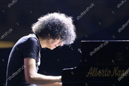 """Stock Image of Giovanni Allevi in concert in Naples for the review titled  """"Restate a Napoli. Il Teatro del Plebiscito""""."""