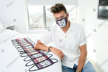 Editorial picture of Henry Holland launches his new face mask collection designed exclusively for YOTEL London - 'WEAR YO MASK!', London, UK - 14 Aug 2020