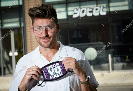 Henry Holland launches his new face mask collection designed exclusively for YOTEL London - 'WEAR YO MASK!'  Henry Holland poses with his new Collection of facemasks at YOTEL in Clerkenwell