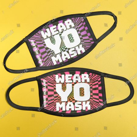 Stock Image of Henry Holland launches his new face mask collection designed exclusively for YOTEL London - 'WEAR YO MASK!'