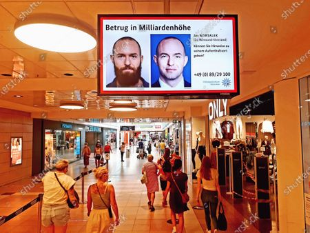 Editorial picture of Economic fraud at Wirecard: search for fugative manager Jan Marsalek on a poster in a mall, Hamburg, Germany - 14 Aug 2020