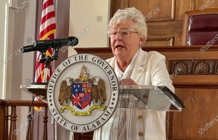 Alabama Gov. Kay Ivey announces the extension of a state order requiring face masks in public during a news conference in Montgomery, Ala. Ivey's chief of staff is quarantining at home after his wife tested positive for COVID-19. Ivey spokeswoman Gina Maiola said Friday, Aug. 14, that Ivey's Chief of Staff Jo Bonner does not have symptoms but is in quarantine at home