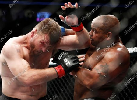 Daniel Cormier, right, fights Stipe Miocic during a heavyweight title mixed martial arts bout at UFC 226 in Las Vegas. The trilogy fight between Daniel Cormier and champ Stipe Miocic will crown the greatest heavyweight of all time. UFC 252, in Las Vegas could be Cormier's last fight ever