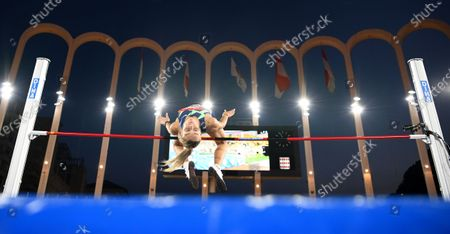 Stock Picture of Yuliya Levchenko of Ukraine competes in the Women's High Jump during the World Athletics Diamond League meeting in Monaco, 14 August 2020.