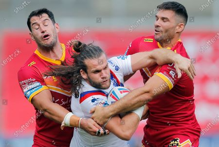 Editorial image of Huddersfield Giants v Warrington Wolves, Betfred Super League, Rugby League, Totally Wicked Stadium, St Helens, UK - 15 Aug 2020