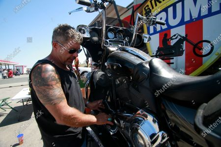 Editorial photo of Bikers For Trump, Sturgis, United States - 08 Aug 2020