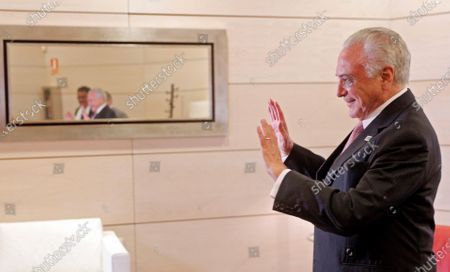 Editorial picture of Brazilian former president Michel Temer interview, Manises Valencia, Spain - 14 Aug 2020