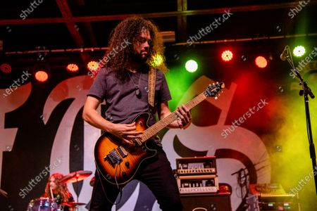 Justin Young of South of Eden performs at the Full Throttle Saloon during the 80th annual Sturgis Motorcycle Rally, in Sturgis, S.D