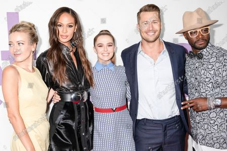 Meredith Hagner, Joan Smalls, Zoey Deutch, Glen Powell, Taye Diggs attend the Set It Up New York Screening at AMC Lincoln Square Theater