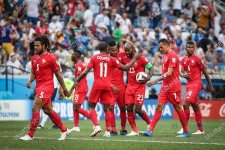 Felipe Baloy of Panama marks the first goal of Panama during the  World Cup 2018 match between  England and Panama valid for the 2nd round of Group G held at the Níjni Novgorod Stadium, Russia. England wins over Panama 6-1.