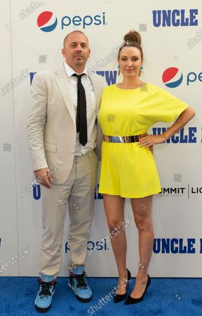 Jay Longino and Aja Evans Longino attend the Uncle Drew New York Premiere at Alice Tully Hall Lincoln Center