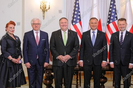 Editorial picture of US State Secretary Mike Pompeo visits Poland, Warsaw - 15 Aug 2020