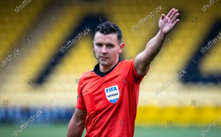 Referee Nick Walsh during the Scottish Premiership match between Livingston & Rangers at the  Alderston Road at Almondvale Stadium, Livingston on 16th August 2020.