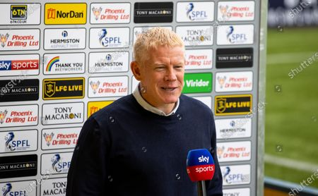 Livingston Manager Gary Holt speak to media before kick off in the Scottish Premiership match between Livingston & Rangers at the Tony Macaroni Arena, Livingston on 16th August 2020.