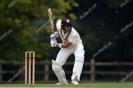 Jamie Smith of Surrey batting during the Bob Willis Trophy match between Hampshire County Cricket Club and Surrey County Cricket Club at Arundel Castle, Arundel
