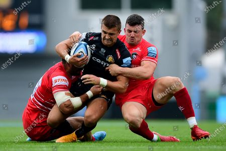 Editorial image of Exeter Chiefs v Leicester Tigers, UK - 15 Aug 2020