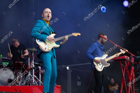Editorial picture of Two Door Cinema Club in concert, Virgin Money Unity Arena, Newcastle upon Tyne, UK - 15 Aug 2020