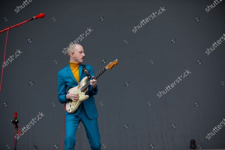 Alex Trimble - Two Door Cinema Club - performing at a socially distanced show
