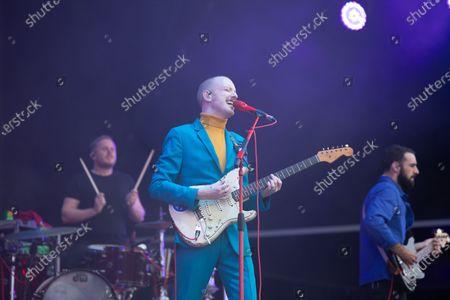 Editorial photo of Two Door Cinema Club in concert, Virgin Money Unity Arena, Newcastle upon Tyne, UK - 15 Aug 2020