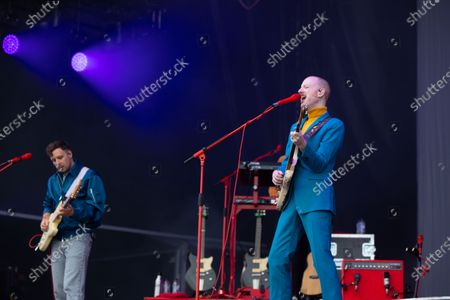 Sam Halliday and Alex Trimble - Two Door Cinema Club - performing at a socially distanced show
