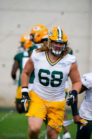 Green Bay Packers' Zack Johnson runs during NFL football training camp, in Green Bay, Wis