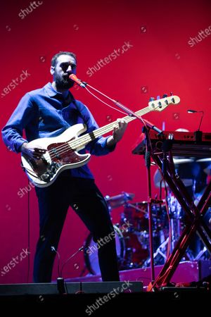 Alex Trimble and Kevin Baird- Two Door Cinema Club - performing at a socially distanced show