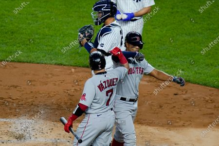 Editorial image of Red Sox Yankees Baseball, New York, United States - 15 Aug 2020