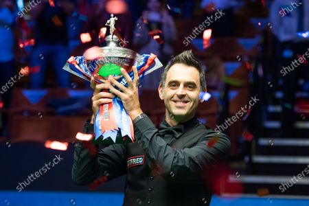 Editorial photo of Exclusive - Betfred World Snooker Championship Final, Day Seventeen, Crucible Theatre, Sheffield, UK - 16 Aug 2020