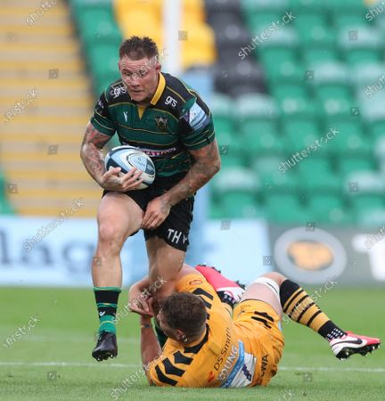 Editorial picture of Northampton Saints v Wasps, Rugby Union, Gallagher Premiership, Franklins Gardens, Northampton, UK - 16/08/2020