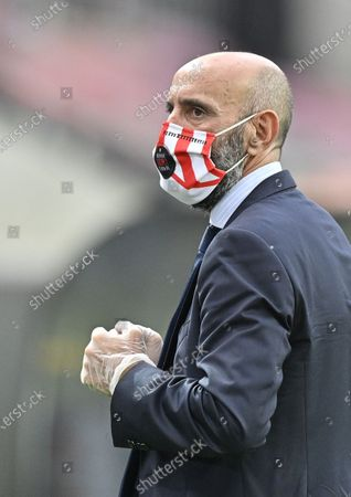 Ramon Rodriguez Verdejo, sports director of Sevilla, arrives for the UEFA Europa League semi final match between Sevilla FC and Manchester United in Cologne, Germany, 16 August 2020.