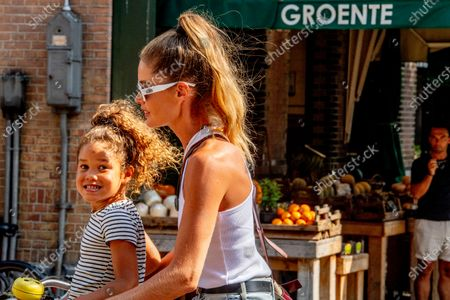 Editorial picture of Doutzen Kroes out and about, Amsterdam, The Netherlands - 16 Aug 2020