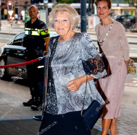 Stock Photo of Her Royal Highness Princess Beatrix of the Netherlands attends a concert of the European Union Youth Orchestra at the Royal Concertgebouw