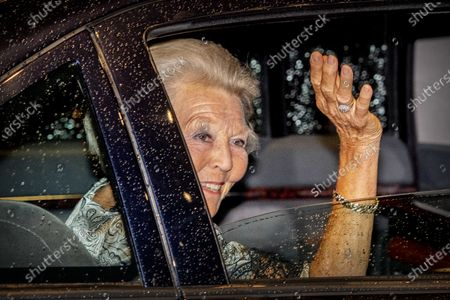 Princess Beatrix leaves Concertgebouw after a concert by the European Union Youth Orchestra in Amsterdam, the Netherlands, 16 August 2020.