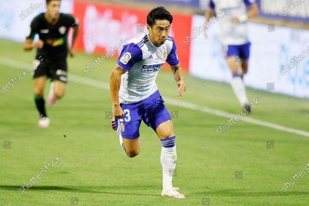 "Shinji Kagawa (Zaragoza) - Football / Soccer : Spanish ""La Liga SmartBank"" promotion playoffs semifinals 2nd leg match between Real Zaragoza 0-1 Elche CF at the Estadio la Romareda in Zaragoza, Spain."
