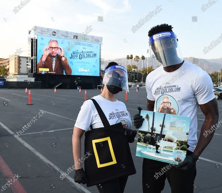 Stock Picture of Staff wear protective masks