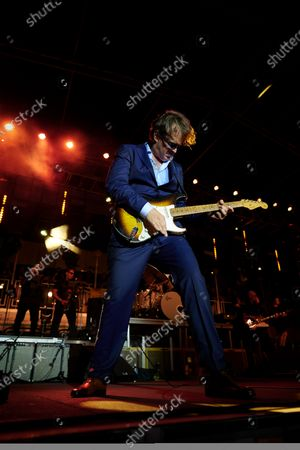 American blues rock guitarist Joe Bonamassa performing live on stage during the Keeping The Blues Alive At Sea event on board the Norwegian Pearl cruise ship in the Mediterranean, on August 19, 2019. (Photo by Joby Sessions/Guitarist Magazine)