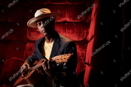 Portrait of American blues guitarist Eric Bibb, photographed during the Keeping The Blues Alive At Sea event on board the Norwegian Pearl cruise ship in the Mediterranean, on August 17, 2019. (Photo by Joby Sessions/Guitarist Magazine)