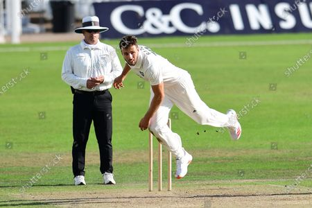 Stock Photo of Tom Barber of Nottinghamshire during the Bob Willis Trophy match between Lancashire County Cricket Club and Nottinghamshire County Cricket Club at Trent Bridge, Nottingham