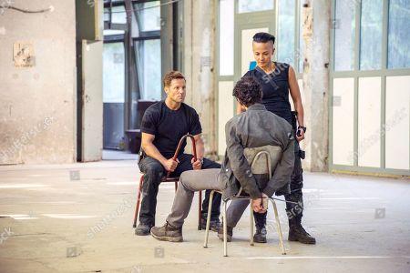 Jamie Bamber as Col. Alexander Coltrane, Alec Secareanu as Zayef and Alin Sumarwata as LCpl. Gracie Novin and