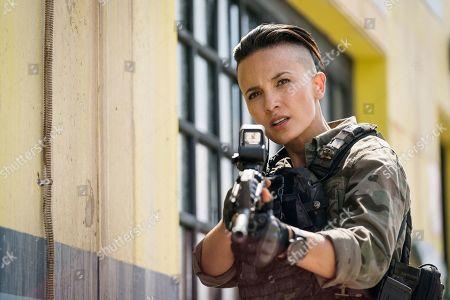 Stock Picture of Alin Sumarwata as LCpl. Gracie Novin