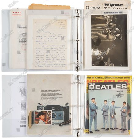 The Beatles archive kept by radio presenter Carroll James.   A letter from George Harrison's sister thanking the DJ who 'broke' The Beatles in America has sold for £14,000.   Louise Harrison Caldwell praised provincial radio presenter Carroll James for having the 'wisdom and initiative' to play The Beatles' single 'I Want to Hold Your Hand' in November 1963.  James had played it at the request of 15-year-old listen Marsha Albert who had written to him asking after the 'new band from England'.  His airing of the record prompted a surge of interest which led to John, Paul, George and Ringo visiting America weeks later and appearing on the Ed Sullivan TV show.