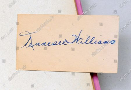Editorial picture of 'A Streetcar Named Desire' signed first edition book - 13 Jul 2020